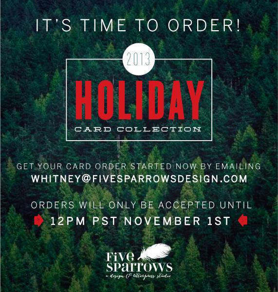 FiveSparrows_Holiday2013_Promo